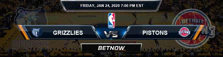 Memphis Grizzlies vs Detroit Pistons 1-24-2020 Odds Picks and Previews
