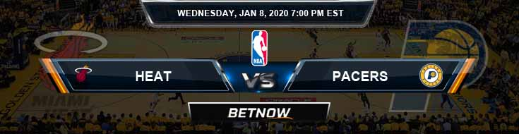 Miami Heat vs Indiana Pacers 1-8-2020 Spread Picks and Prediction