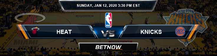 Miami Heat vs New York Knicks 1-12-2020 NBA Picks and Game Analysis