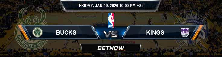 Milwaukee Bucks vs Sacramento Kings 1-10-2020 NBA Picks and Previews