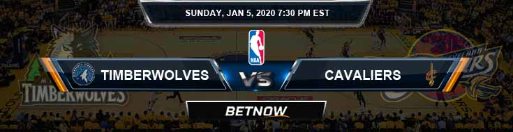 Minnesota Timberwolves vs Cleveland Cavaliers 1-5-2020 Spread Odds and Picks