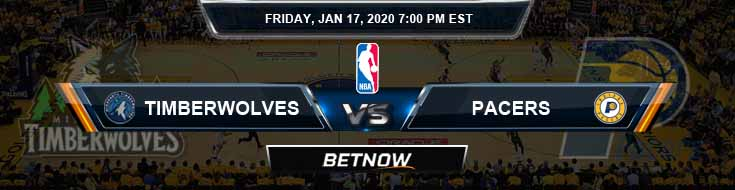 Minnesota Timberwolves vs Indiana Pacers 1-17-2020 NBA Odds and Previews