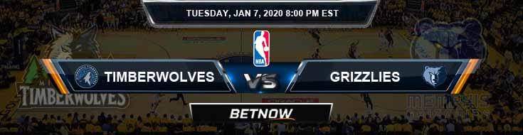 Minnesota Timberwolves vs Memphis Grizzlies 01-07-2020 NBA Spread and Picks
