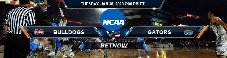 Mississippi State Bulldogs vs Florida Gators 1/28/2020 Predictions, Preview and Spread