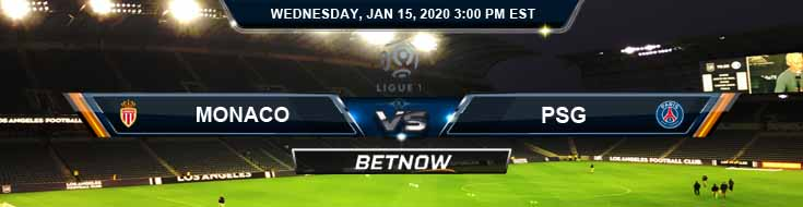 Monaco vs PSG 01-15-2020 Betting Odds Spread and Predictions