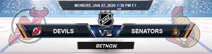New Jersey Devils vs Ottawa Senators 01-27-2020 NHL Picks Betting Odds and Previews