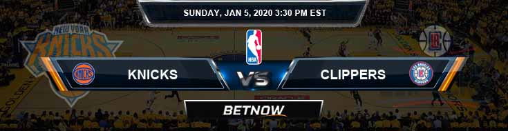 New York Knicks vs Los Angeles Clippers 1-5-2020 Spread Odds and Picks