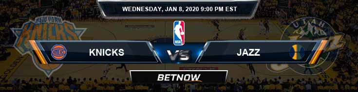 New York Knicks vs Utah Jazz 01-08-2020 NBA Picks and Game Analysis