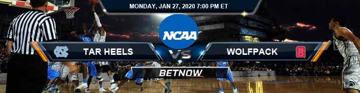 North Carolina Tar Heels vs North Carolina State Wolfpack 1/27/2020 Odd, Picks and Preview