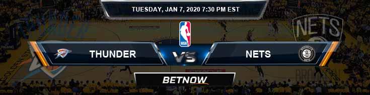 Oklahoma City Thunder vs Brooklyn Nets 01-07-2020 Odds Spread and Picks