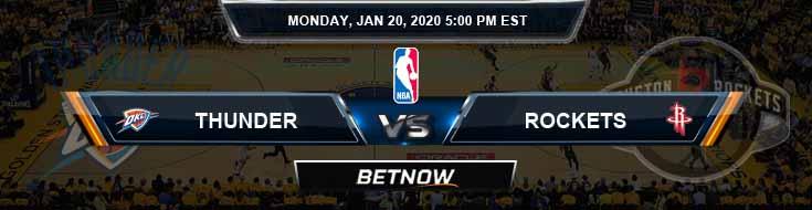 Oklahoma City Thunder vs Houston Rockets 1-20-2020 NBA Picks and Previews