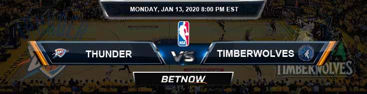 Oklahoma City Thunder vs Minnesota Timberwolves 1-13-2020 NBA Odds and Picks
