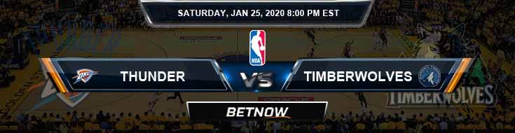 Oklahoma City Thunder vs Minnesota Timberwolves 1-25-2020 NBA Odds and Picks