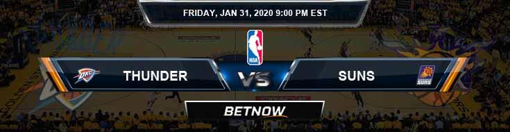 Oklahoma City Thunder vs Phoenix Suns 1-31-2020 NBA Odds and Previews