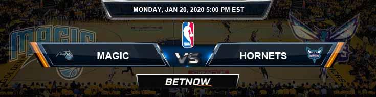 Orlando Magic vs Charlotte Hornets 1-20-2020 Spread Picks and Previews
