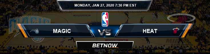 Orlando Magic vs Miami Heat 1-27-2020 Spread Picks and Prediction