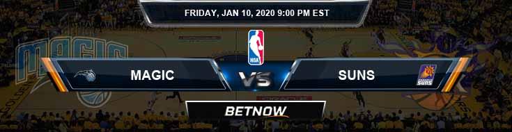 Orlando Magic vs Phoenix Suns 1-10-2020 Spread Picks and Prediction