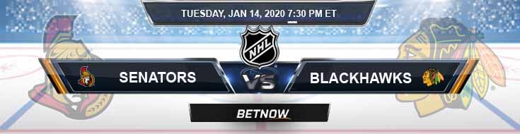 Ottawa Senators vs Chicago Blackhawks 01-14-2020 Picks NHL Betting Odds and Predictions