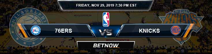 Philadelphia 76ers vs New York Knicks 1-18-2020 NBA Odds and Previews