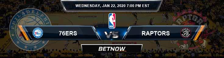 Philadelphia 76ers vs Toronto Raptors 1-22-2020 NBA Picks and Previews