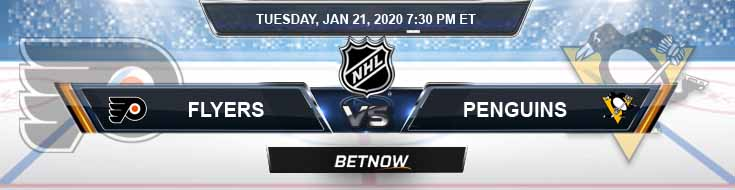 Philadelphia Flyers vs Pittsburgh Penguins 01-21-2020 Previews Spread and Picks