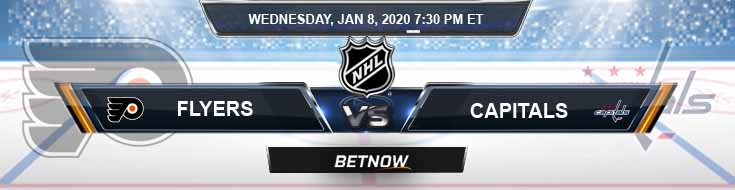 Philadelphia Flyers vs Washington Capitals 01-08-2020 Picks Previews and Predictions