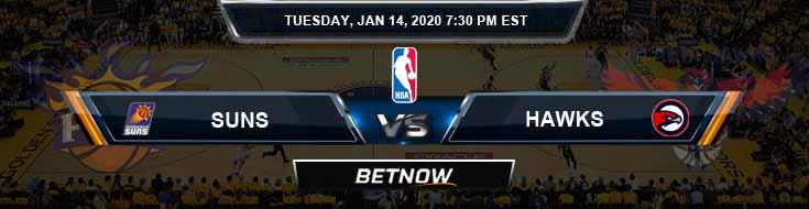 Phoenix Suns vs Atlanta Hawks 1-14-2020 Spread Picks and Prediction
