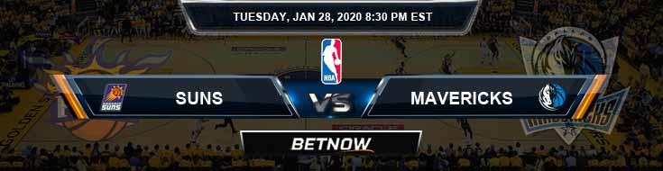 Phoenix Suns vs Dallas Mavericks 1-28-2020 Spread Picks and Previews
