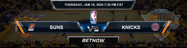 Phoenix Suns vs New York Knicks 1-16-2020 Odds Picks and Previews