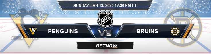 Pittsburgh Penguins vs Boston Bruins 01-19-2020 Previews Predictions and Picks