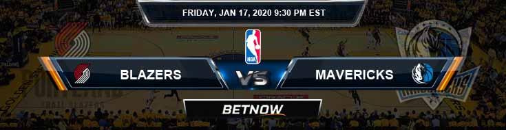 Portland Trail Blazers vs Dallas Mavericks 1-17-2020 NBA Odds and Previews