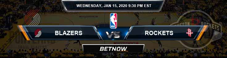 Portland Trail Blazers vs Houston Rockets 01-15-2020 Odds Picks and Previews