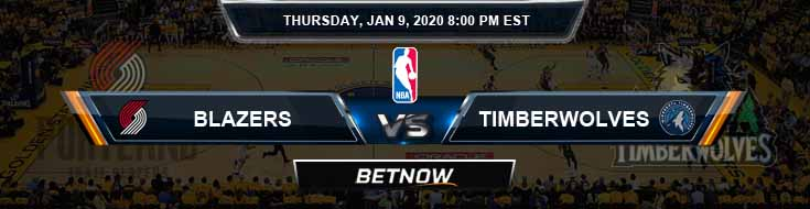 Portland Trail Blazers vs Minnesota Timberwolves 1-9-2020 NBA Odds and Picks