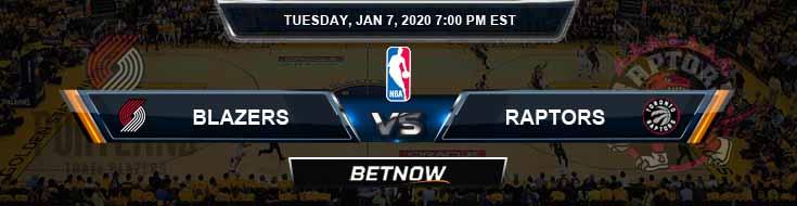 Portland Trail Blazers vs Toronto Raptors 01-07-2020 NBA Odds and Previews