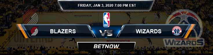 Portland Trail Blazers vs Washington Wizards 1-3-2020 Spread Odds and Picks