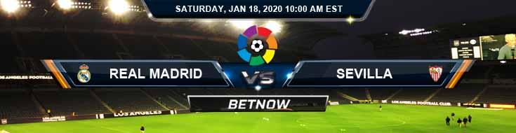 Real Madrid vs Sevilla 01-18-2020 Odds Predictions and Betting Picks