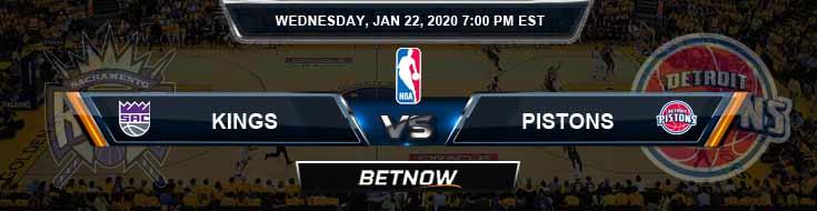 Sacramento Kings vs Detroit Pistons 1-22-2020 Odds Picks and Previews