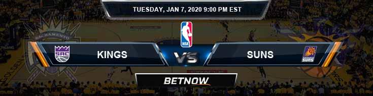 Sacramento Kings vs Phoenix Suns 01-07-2020 Spread Picks and Previews