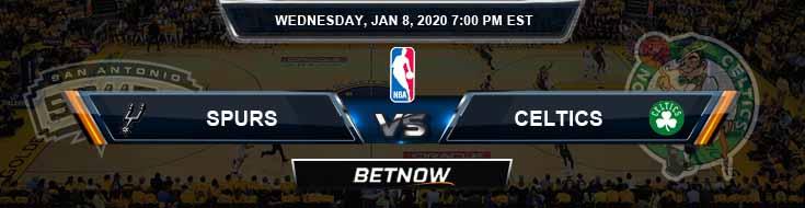 San Antonio Spurs vs Boston Celtics 1-8-2020 Odds Picks and Previews