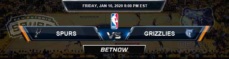 San Antonio Spurs vs Memphis Grizzlies 1-10-2020 NBA Picks and Previews