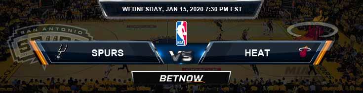 San Antonio Spurs vs Miami Heat 1-15-2020 Spread Picks and Prediction