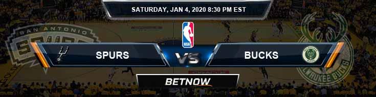 San Antonio Spurs vs Milwaukee Bucks 1-4-2020 NBA Picks and Previews