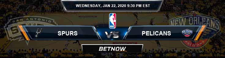 San Antonio Spurs vs New Orleans Pelicans 1-22-2020 NBA Odds and Picks