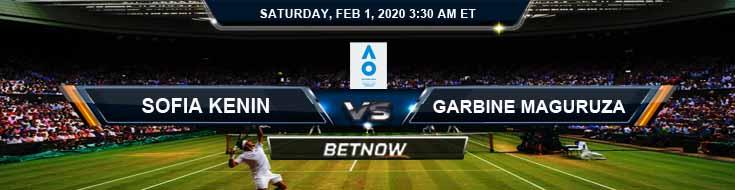 Sofia Kenin vs Garbine Muguruza 2020 Australian Open Women's Singles Finals Betting Preview Odds and Choices