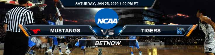 Southern Methodist Mustangs vs Memphis Tigers 1/25/2020 Spreads, Picks and Odds