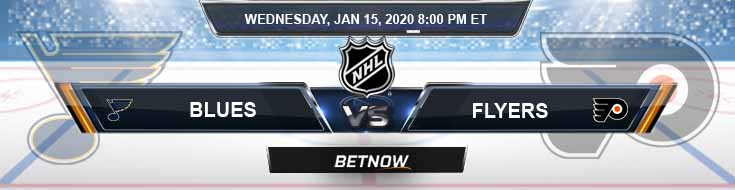 St. Louis Blues vs Philadelphia Flyers 01-15-2020 Spread Picks and Odds