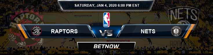 Toronto Raptors vs Brooklyn Nets 1-4-2020 Spread Picks and Previews