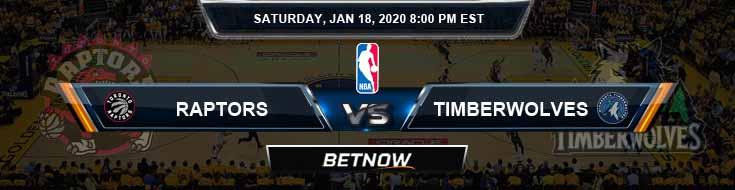 Toronto Raptors vs Minnesota Timberwolves 1-18-2020 NBA Spread and Picks