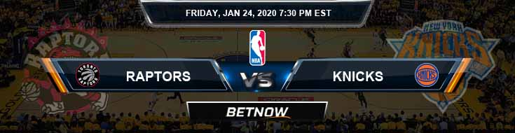 Toronto Raptors vs New York Knicks 1-24-2020 Spread Picks and Previews