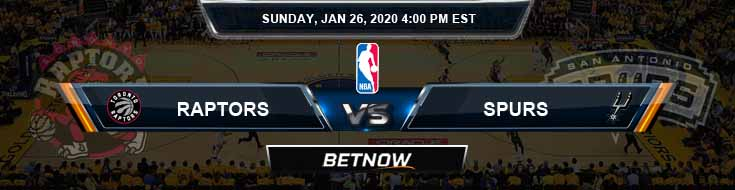 Toronto Raptors vs San Antonio Spurs 1-26-2020 NBA Picks and Previews